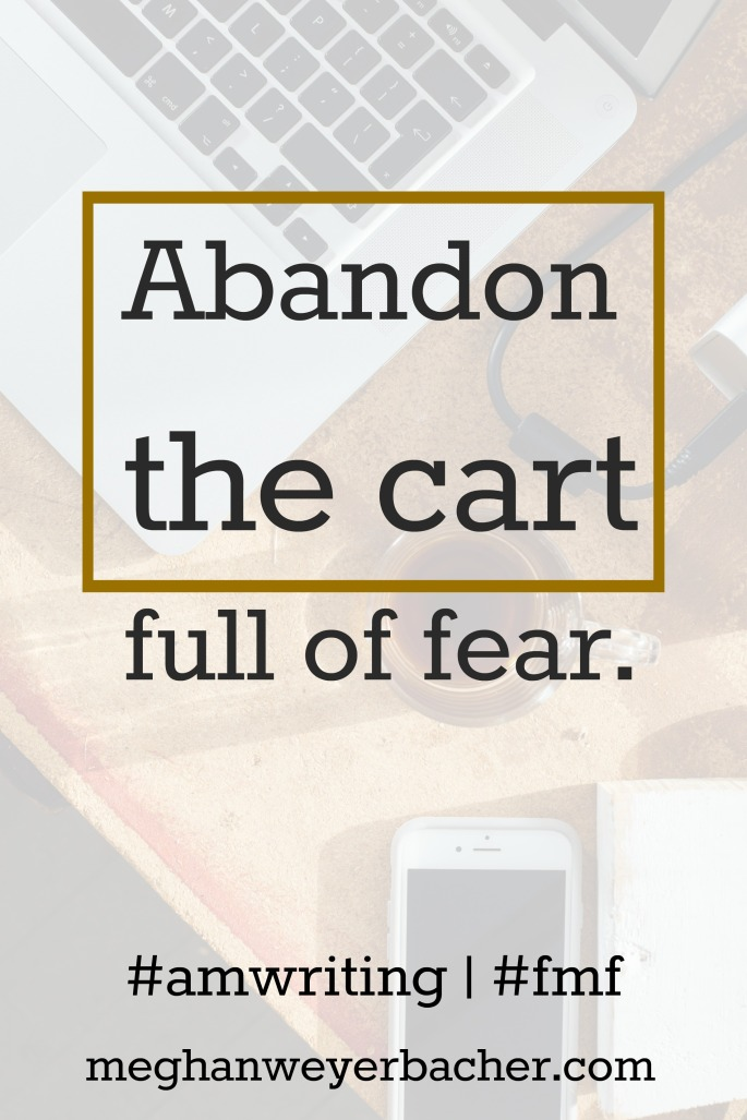 #amwriting #fmf #fmfparty Abandon the cart.